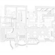 Floor plan of Casa Popeea boutique hotel by Manea Kella