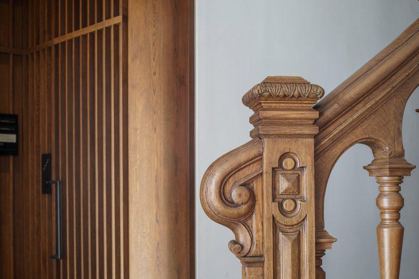 Staircase of Casa Popeea boutique hotel by Manea Kella