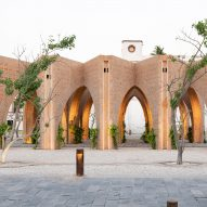Brick arcade by MMX revitalises earthquake-hit public square in Mexico