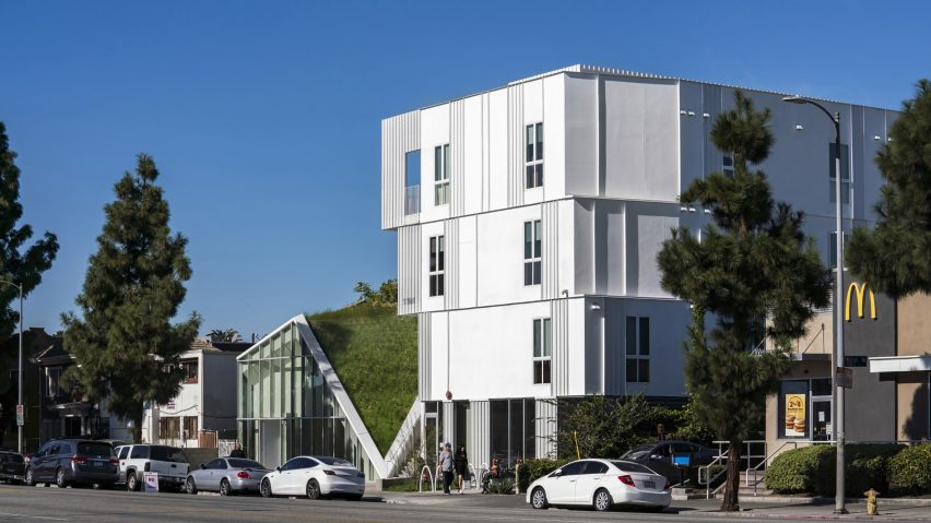 MLK1101 Supportive Housing, Los Angeles, US, by Lorcan O'Herlihy Architects (LOHA). Photo is by Paul Vu