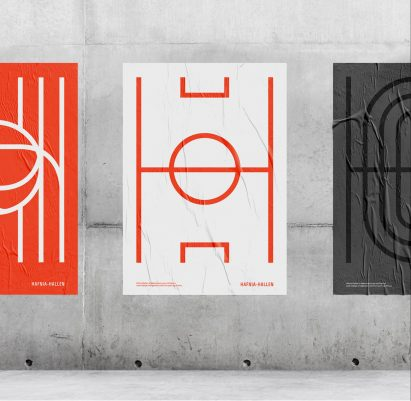Re-public designs visual identity for restored Hafnia-Hallen sports centre