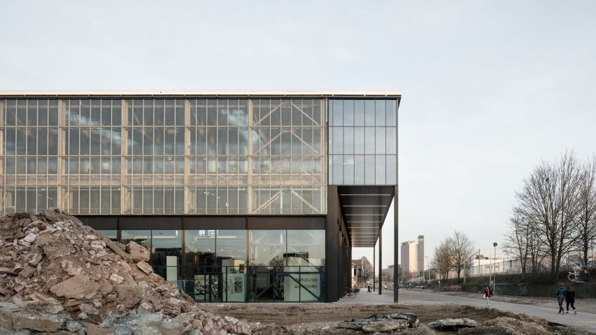 LocHal library, Tilburg, Netherlands, by Civic Architects, Inside Outside/Petra Blaisse and Braaksma & Roos Architectenbureau