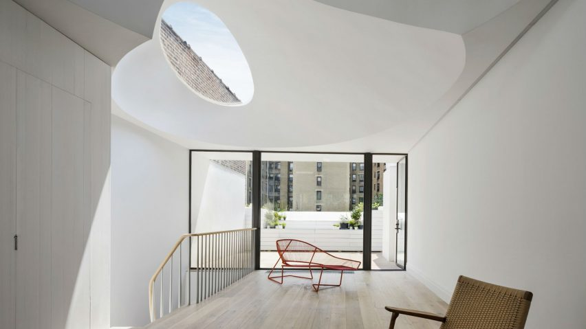 Two Curved Skylights Top Oculi House By O Neill Rose Architects