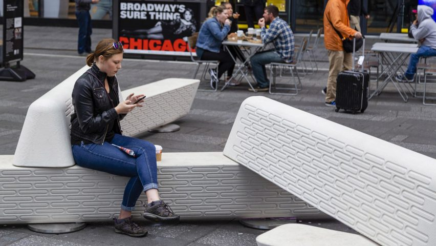 Rely protective public seating by Joe Doucet has been named seating design of the year