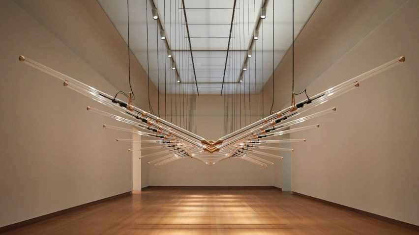 In 20 Steps by Studio Drift at the Stedelijk Museum. Photo is by Ronald Smits