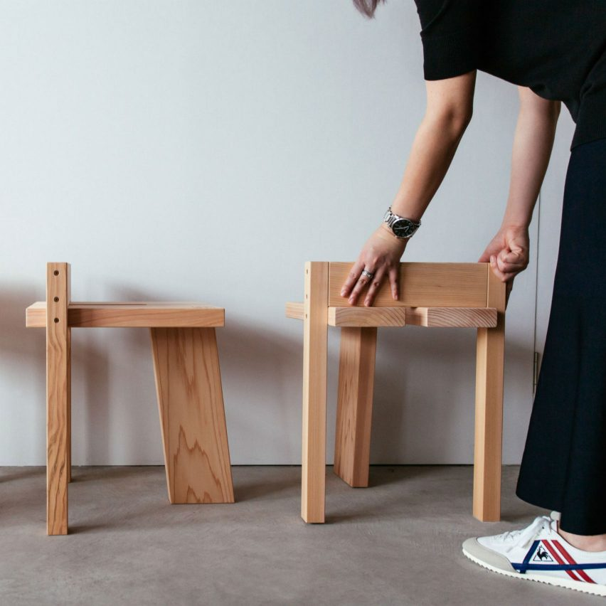 Tripodal stool, which was longlisted in the furniture design category, was chosen by readers