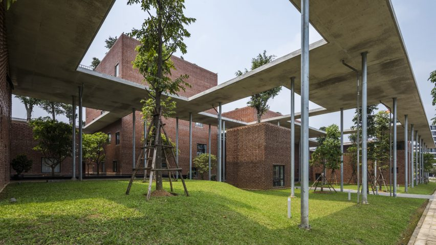 Viettel Academy, Hanoi, Vietnam, by Vo Trong Nghia Architects