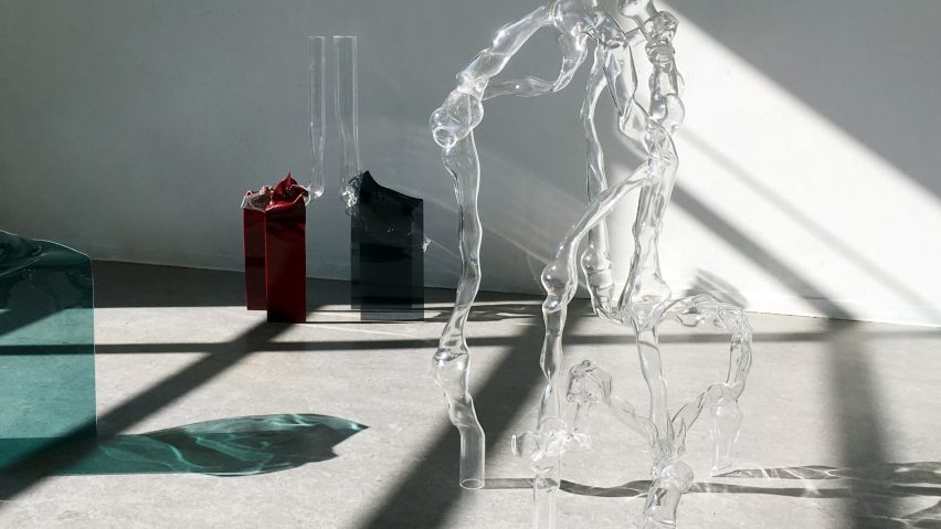 Dorian Renard blows plastic like glass for a collection that reconsiders the material's value