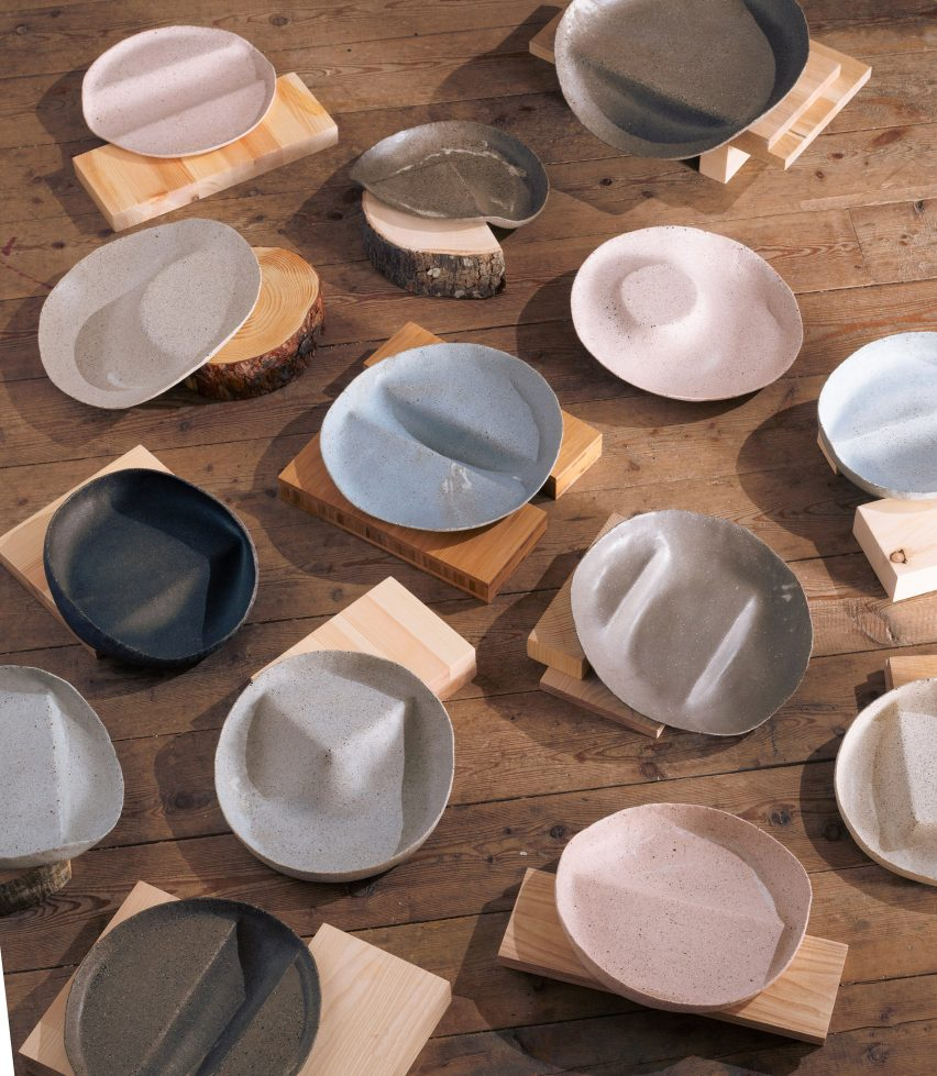 Non-traditional tableware created for Experimental Gastronomy dinner
