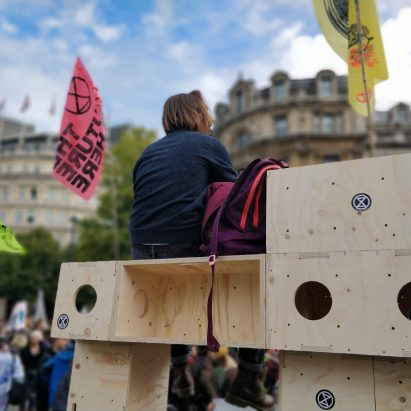 Extinction Rebellion adapt U-Build for protest architecture