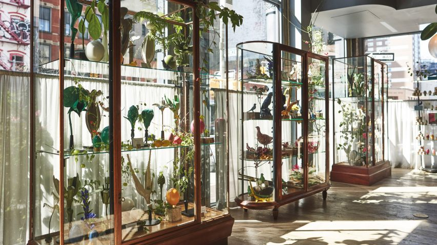 Roman and Williams installs cabinet of curiosities inside Soho furniture shop