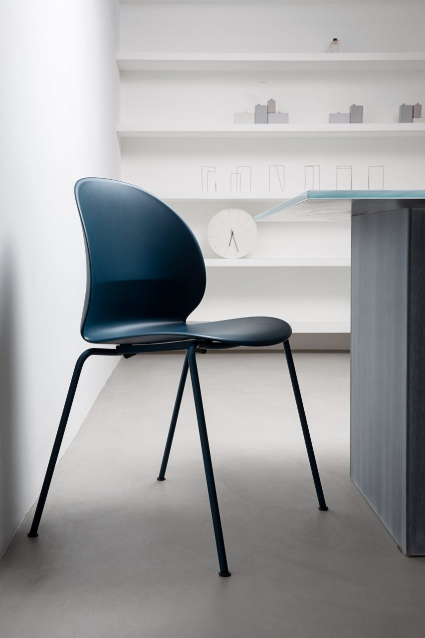 Oki Sato at Nendo designs recyclable chair for Fritz Hansen