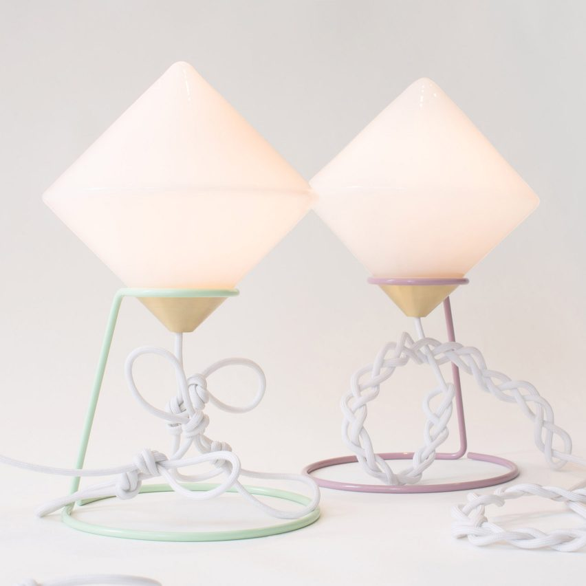 Bec Brittain creates Gemini lights to be like a family of creatures