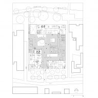 Campus ground floor plan of Gerrit Rietveld Academy by Studio Paulien Bremmer and Hootsmans Architecten