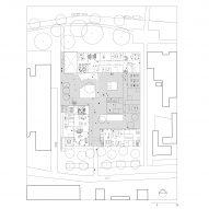 Campus ground floor plan of Gerrit Rietveld Academy by Studio Paulien Bremmer and Hootsmans Architecten