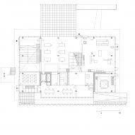 Ground floor plan of Gerrit Rietveld Academy by Studio Paulien Bremmer and Hootsmans Architecten