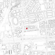Site plan of Gerrit Rietveld Academy by Studio Paulien Bremmer and Hootsmans Architecten