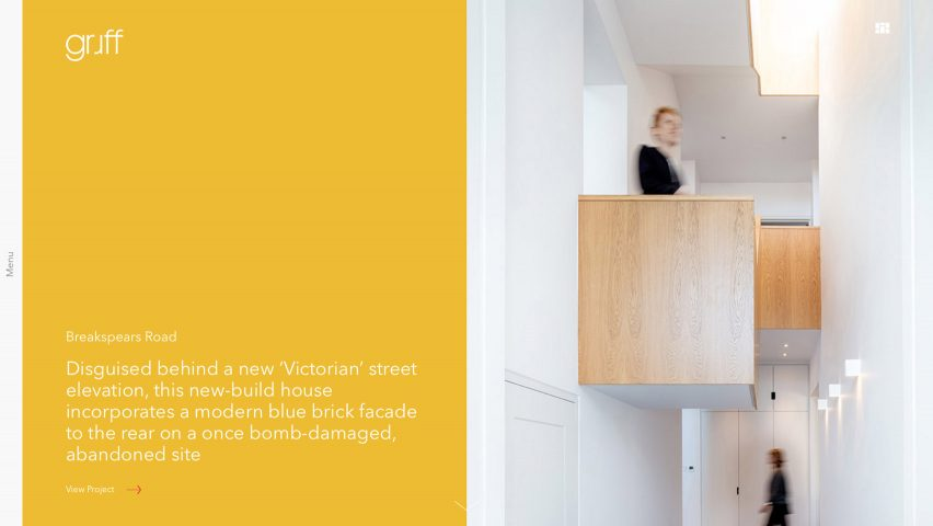 Archiboo Web Awards 2019: Gruff Architects website
