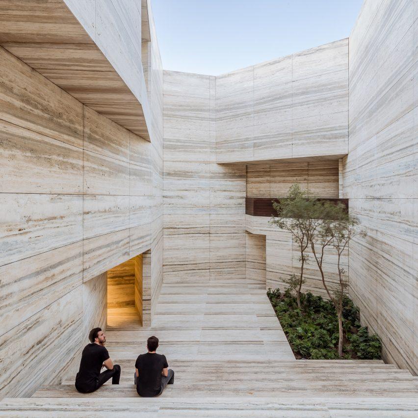 Esrawe Studio carves quarry-like landscape for Guadalajara stone showroom