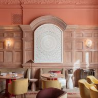 Pierre Yovanovitch opts for salmon pink in revamp of London restaurant