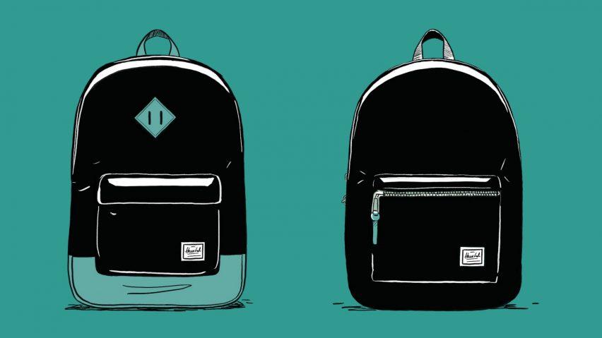 Herschel backpack for Dezeen Day