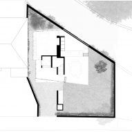 Ground floor plan of House in a Garden by David Leech Architects