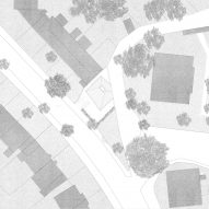 Site plan of House in a Garden by David Leech Architects