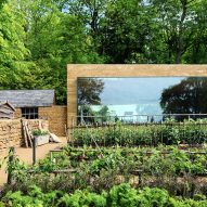 Invisible Studio builds giant window in Somerset hotel garden