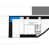 Ground floor plan of K House by ArchitectsTM