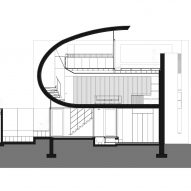 Longitudinal section of K House by ArchitectsTM