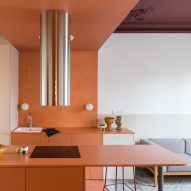 Colour blocking brightens fire-damaged Klinker Apartment in Barcelona