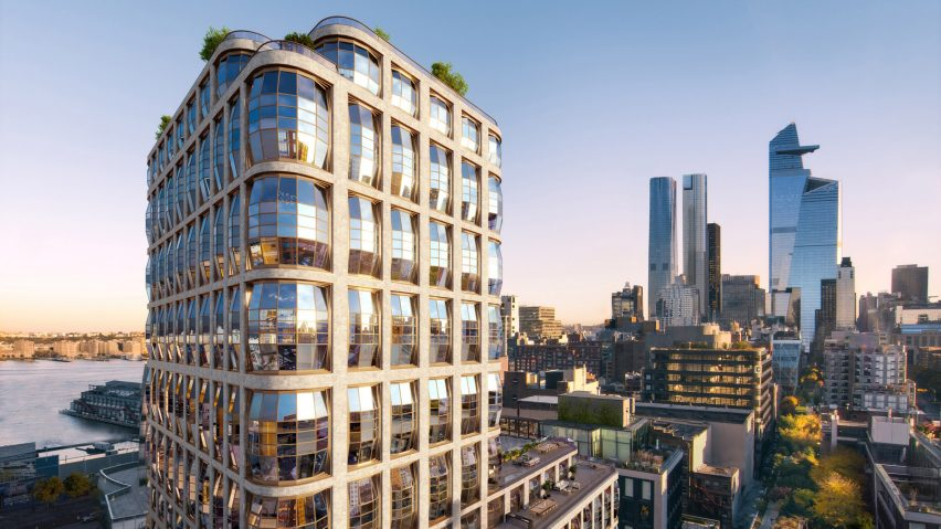 Heatherwick's High Line condos named Lantern House after bulging windows