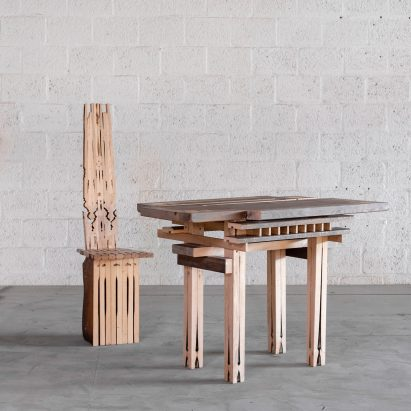Micheline Nahra de- and reconstructs a dining set beyond recognition