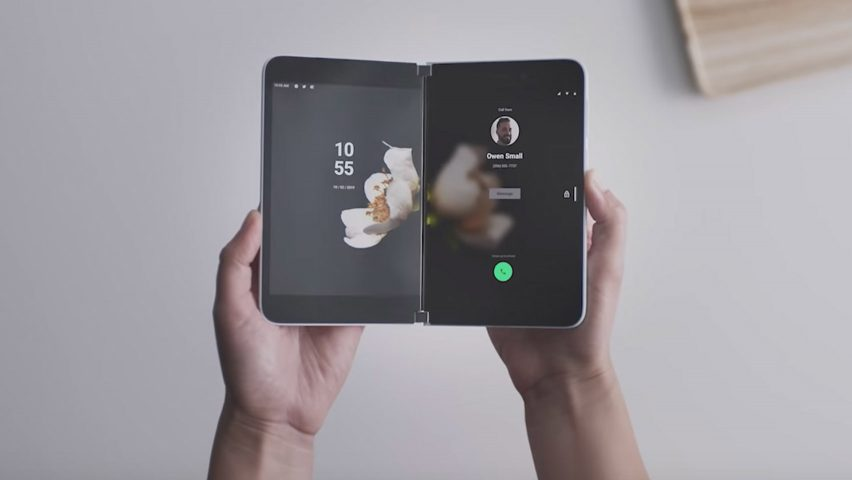 Microsoft unveils dual-screen folding Android smartphone
