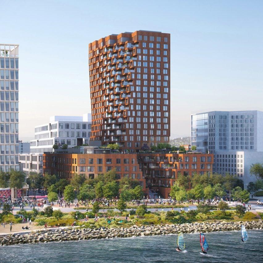 MVRDV, Studio Gang and Henning Larsen unveil towers for San Francisco's Mission Rock development