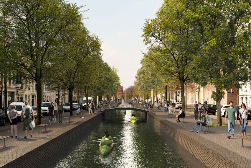 Visuals of The Hague's 17th century canals reopened by MVRDV