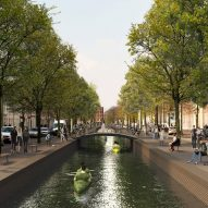 MVRDV imagines restoring The Hague's historic canal network
