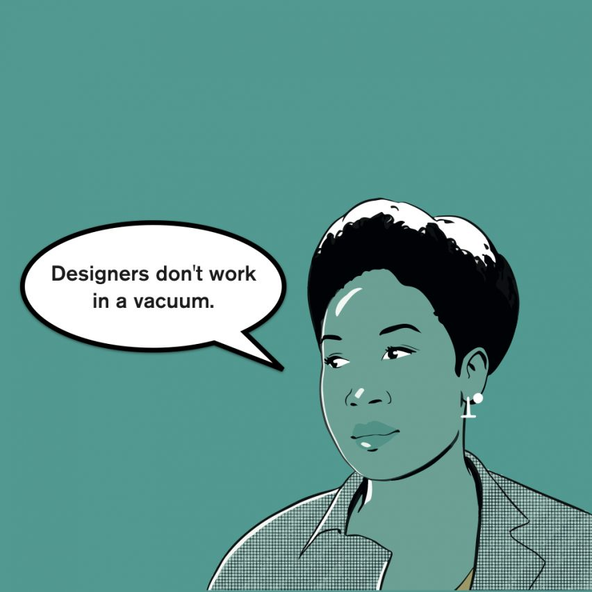 """""""Designers are starting to understand they don't design in a vacuum"""" says Natsai Audrey Chieza"""