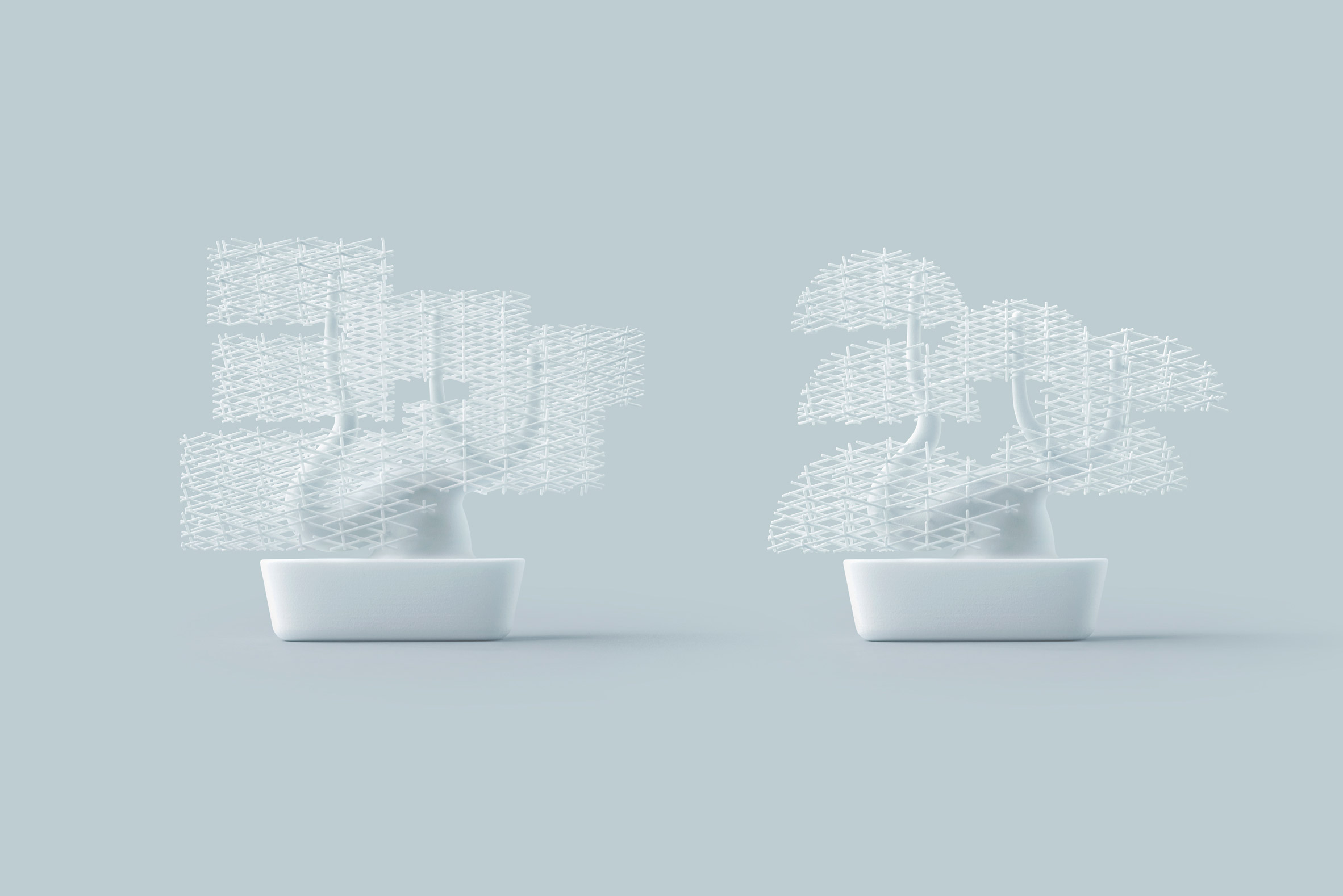 Nendo creates 3D-printed bonsai tree