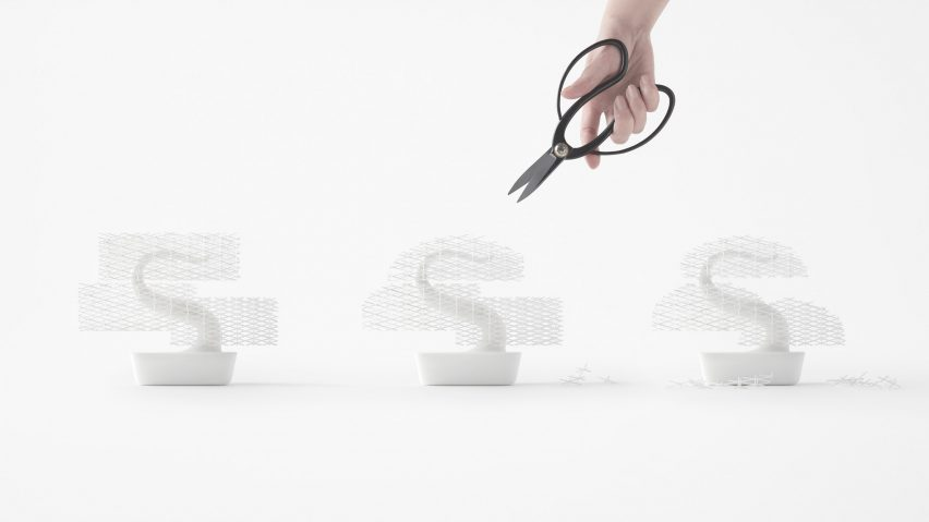 Nendo's 3D-printed Bonsai tree does away with meticulous plant maintenance