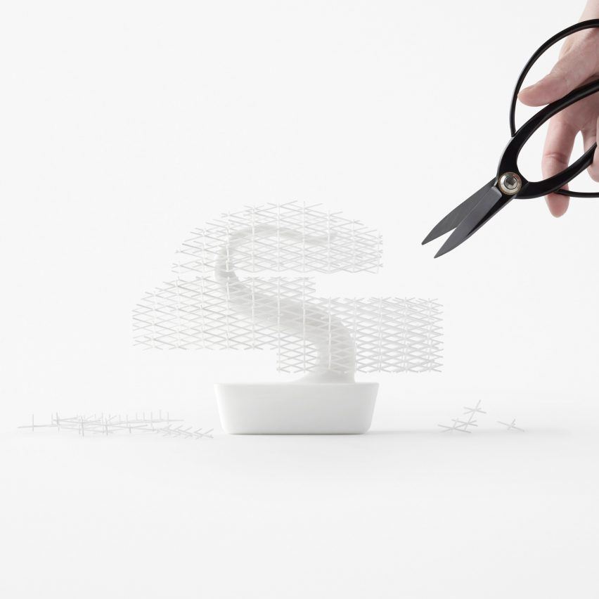 Nendo's 3D-printed bonsai tree does away with need for meticulous maintenance