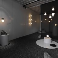 Davidpompa shows Origo lights in shipping container for Mexico City design week
