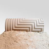 Phil Cuttance creates intricate Herringbone Stone Blend vases by hand
