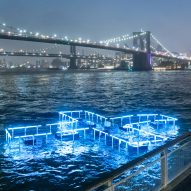 Floating + Pool Light installation illuminates the East River to test and report on water quality