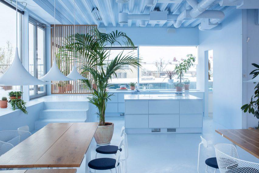 Scandinavian Spaceship office for Bakken & Bæck, designed by Kvistad