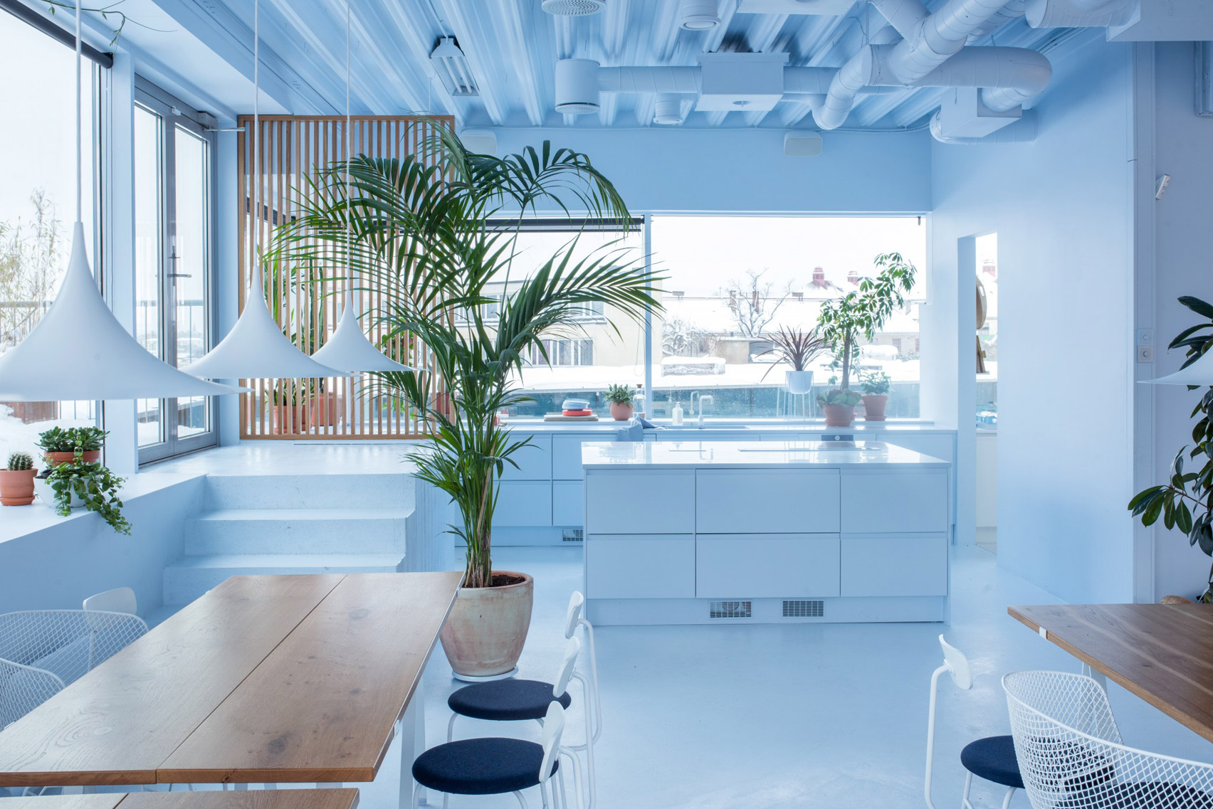 Scandinavian Spaceship office for Bakken & Bæck, designed by Kvistad