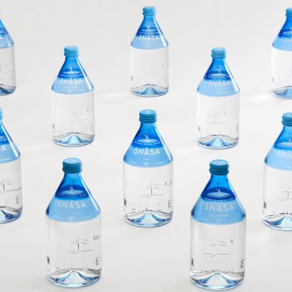 Snåsa water bottle design branding