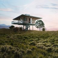 Alexis Dornier designs prefab homes on stilts that could be moved from place to place
