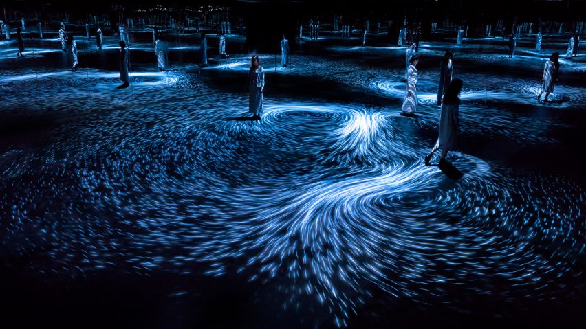 Moving Creates Vortices Create Movement by TeamLab