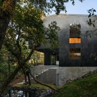 PPAA designs Tlalpuente house to merge with wooded landscape in Mexico City
